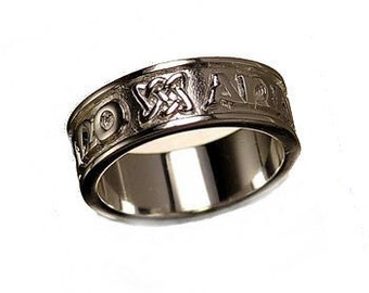SS-3082 My Soul mate Sterling Silver Ring Celtic Infinity knot Pick Your Ring Size We Have Sizes 3 to 14