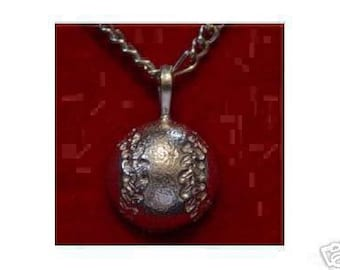 0384 baseball pendant silver sports charm bat ball Real Sterling silver 925 pendant Charm jewelry