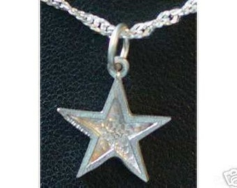 0572 cute shooting star sterling silver pendant charm Real Sterling silver 925 pendant Charm jewelry