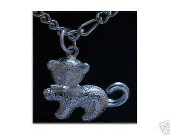 sterling silver chinese cat charm pendant cute jewelry Real Sterling silver 925 pendant Charm jewelry