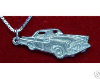 sterling silver luxury car pendant charm ford thunderbird jewelry t-bird vehicle Real Sterling silver 925 pendant Charm jewelry
