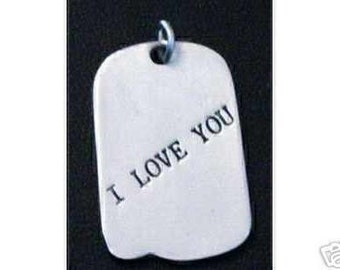 i love you chinese st. silver pendant charm jewelry Real Sterling silver 925 pendant Charm jewelry