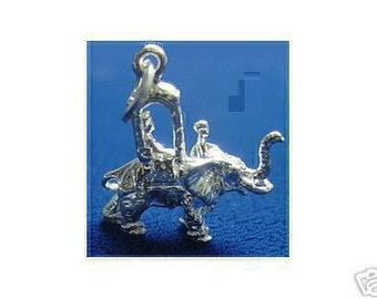 persian arabian circus royal elephant ride pendant charm sterling silver jewelry Real Sterling silver 925 pendant Charm jewelry