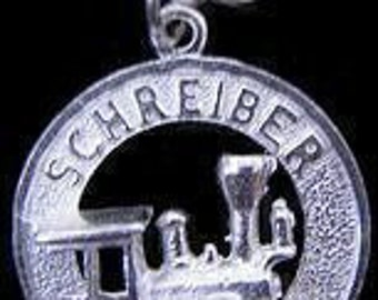 rare  schreiber train silver charm jewelry Real Sterling silver 925 pendant Charm jewelry