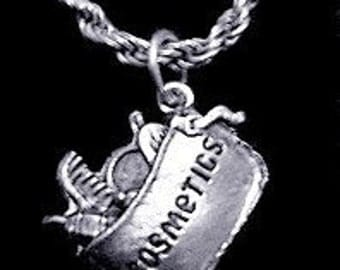 cosmetics makeup sterling silver pendant charm jewelry Real Sterling silver 925 pendant Charm jewelry