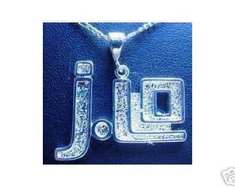 jennifer lopez j-lo silver pendant charm jewelry Real Sterling silver 925 pendant Charm jewelry