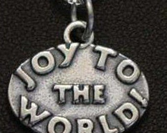 sterling silver joy to the world charm christmas carol Real Sterling silver 925 pendant Charm jewelry