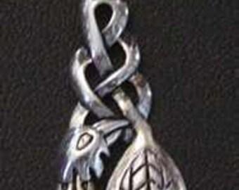 celtic infinity knot bird pendant charm sterling silver Real Sterling silver 925 pendant Charm jewelry