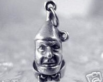 tin man wizard of oz sterling silver charm pendant Real Sterling silver 925 pendant Charm jewelry