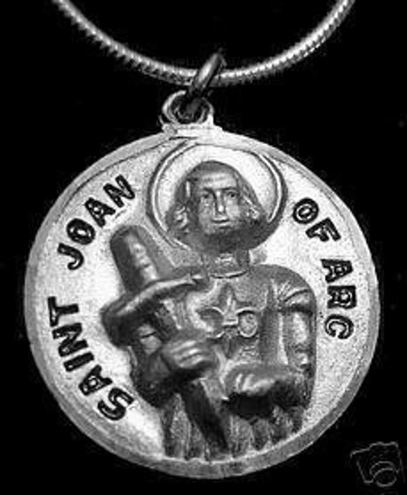 1933 saint joan of arc patron of soldiers silver charm Real Sterling silver 925 pendant Charm jewelry
