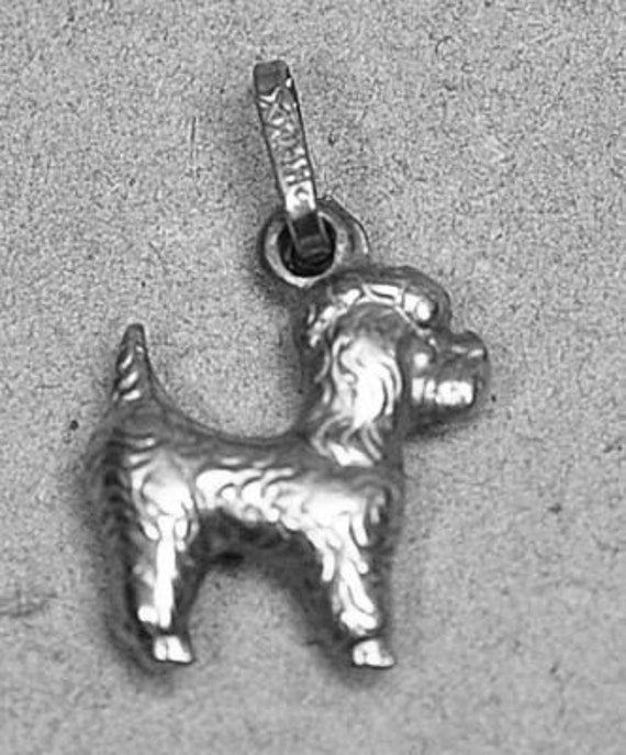 puppy sterling silver charm mini poodle grooming dog pendant jewelry cockapoo Real Sterling silver 925 pendant Charm jewelry