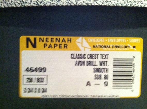 DESTASH - Classic Crest Neenah Classic AB White A9 Envelopes - 200 plus