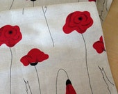"""Linen Table Runner Tablecloth Natural  White Gray Black Red poppy Linen Lace 75"""" x 18.5"""""""