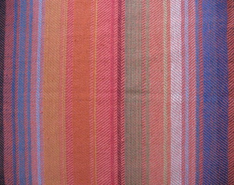 "Linen table Runner Tablecloth Blue Red Green Yellow Orange Multicolored 41.3"" x 17.7"""