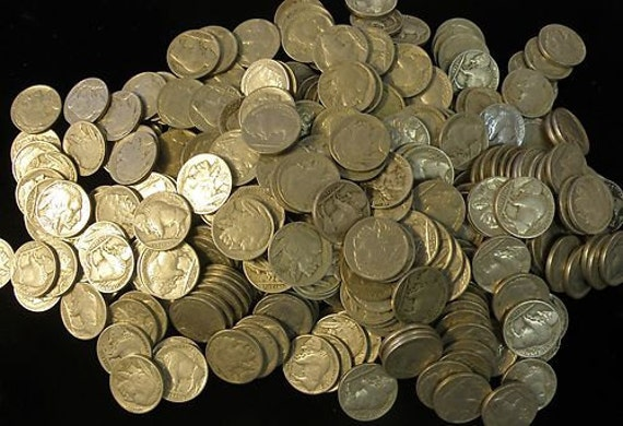 Lot of 40 full date Buffalo type nickels coin roll