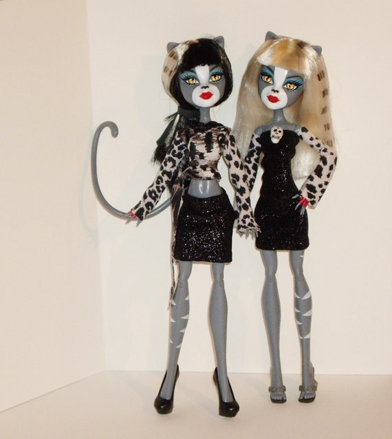 Monster High Doll Clothes, Werecat Twins, Purrsephone on Lookout