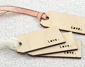 Love Wood Gift Tags - 4 qty