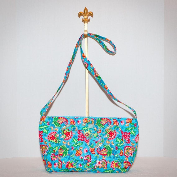 Summer Floral Crossbody Quilted Bag