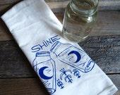 Moonshine -  Kitchen Tea Towel - Hand Screen Printed
