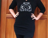 Moonshine Mini Dress - Soft Eco Fleece Sweatshirt Dress - LARGE - Hillbilly Backwoods Legend