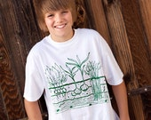 Youth Size T- Shirt - Veggie Garden - Hand Screen Printed