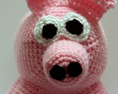 Crocheted amigurumi pig for Africa