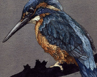 Kingfisher | Watercolor | Archival Print