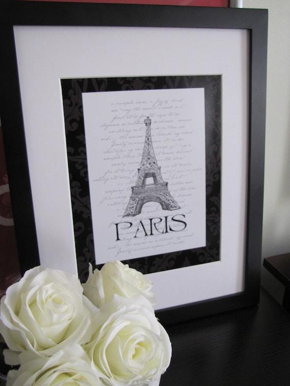Paris Eiffel Tower Digital Print