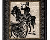 CIVIL WAR SOLDIER art print dictionary art print on vintage dictionary page upcycled recycled 8x10