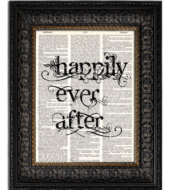 Etsy Wedding Gifts: Items Similar To HAPPILY EVER AFTER Quote Print Wedding