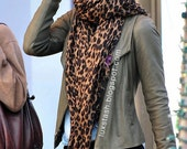 Leopard Print Scarf LV - Celebrity Style
