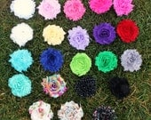 SALE Shabby  Chic Baby Flower Clip Package - Any 5 Colors-
