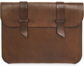 Leather iPad Case - Dark Brown