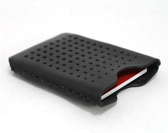 Speaker Box Leather Credit Card Holder