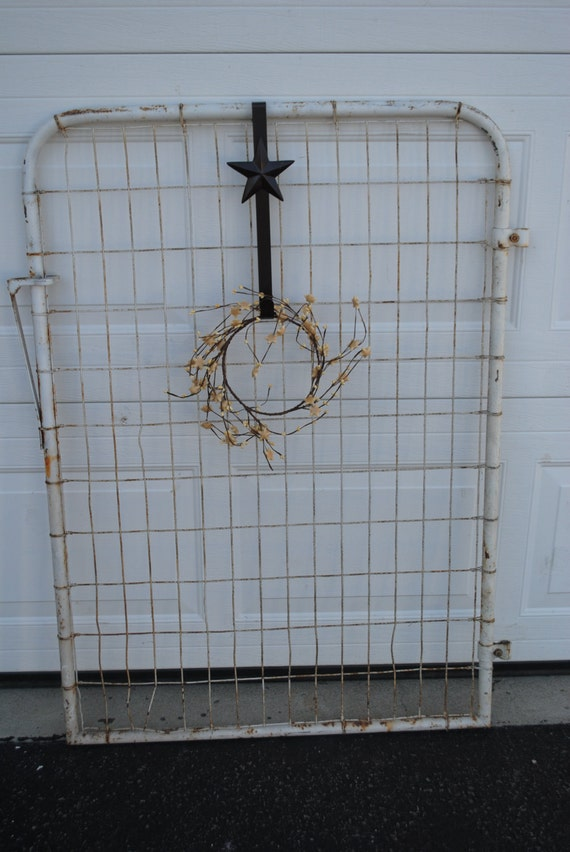 On Sale Vintage Rustic Old White Gate