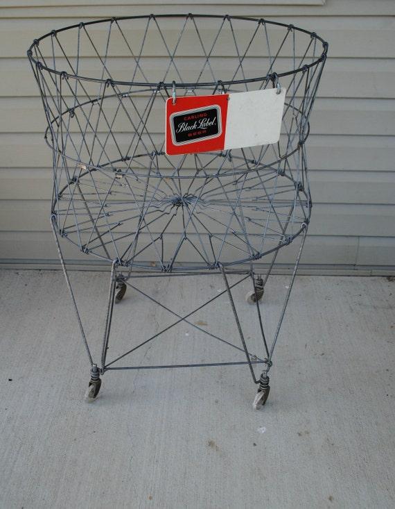Vintage Wire Laundry Basket