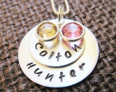 Personalized Name Necklace Hand Stamped The Way You Like It- Love Layers 2 to 4 Names