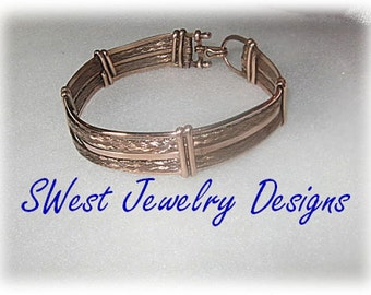 Handmade Braided Wire Copper Bracelet