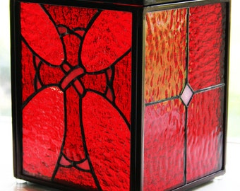Custom Made Stained Glass Candleholders