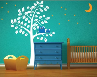 Wall Decal - Tree Wall Decal - Childrens Reusable Removable Decal - T102SWA