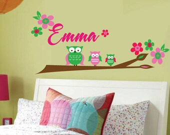 Tree Wall Decal - Childrens Wall Decals -  Monogram Decal - Reusable Removable  - M811SWA