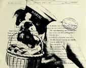 MARINE, original ARTWORK, mixed media