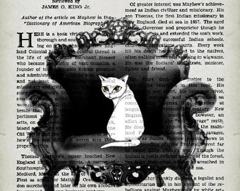 BAROQUE CAT,  giclee print, art poster, original artwork