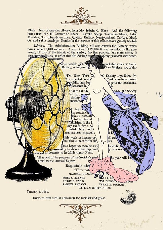 VENTILATOR  Giclee Print Poster Mixed Media Painting Illustration Drawing