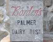 Vintage Advertising Borden Milk Box