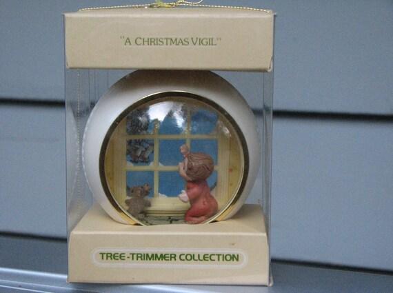 """Hallmark  Christmas Ornament  Collectible Panorama  - """"A Christmas Vigil"""""""