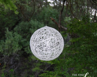 Hanging String Globes, Wedding Accessories, Wedding Decor, Hanging Balls, Decor, Wedding Decor, Decorations, Balls, Blush and Birch Paper