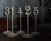 """Table Numbers 10 1/4"""" Tall 3"""" numbers with base Set 1-25"""