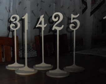 "Table Numbers 10 1/4"" Tall with base Set 1-30 MDF"