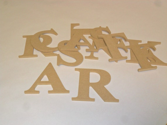 Numbers and Letters MDF